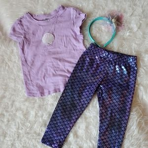 Girls 3T Mermaid Outfit